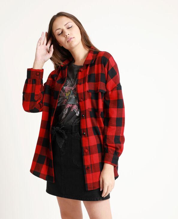 Chemise à carreaux rouge
