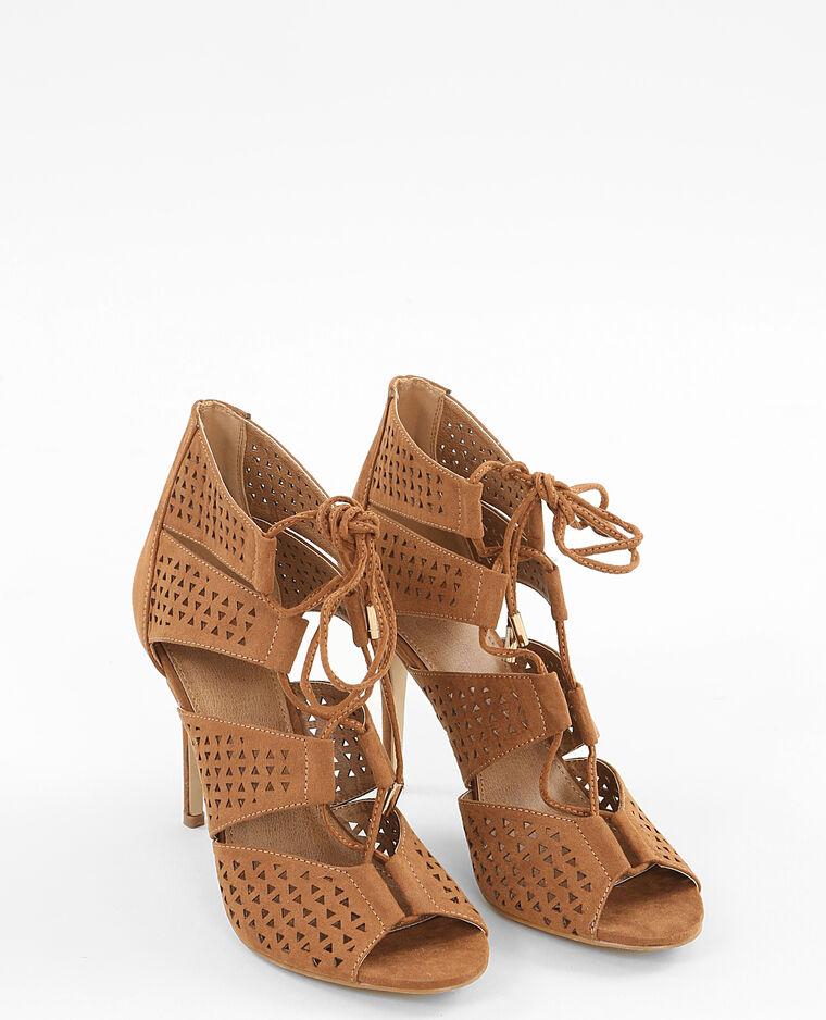 Sandales à lacets marron