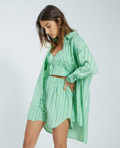 Oversized hemd groen - Pimkie