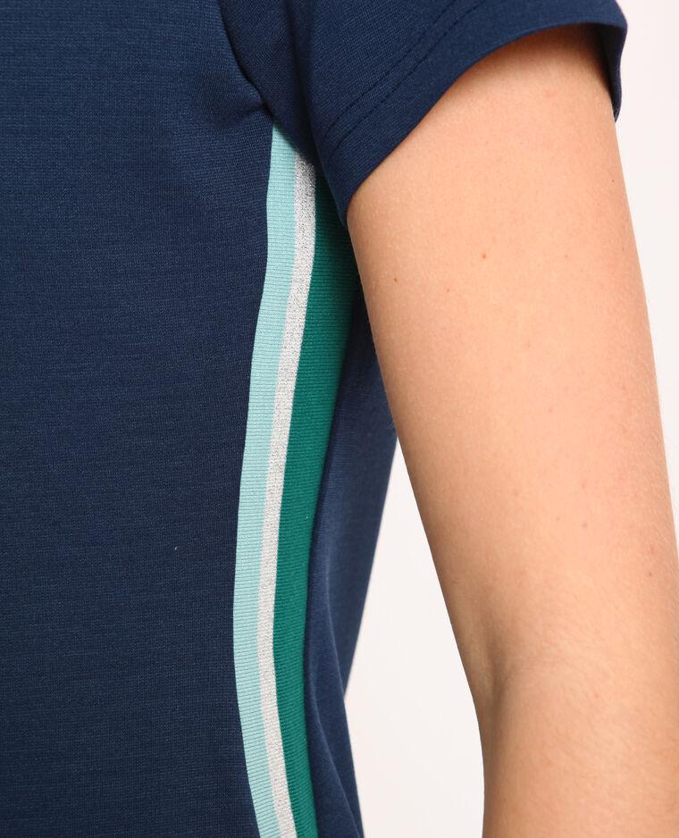 Robe t-shirt bleu foncé