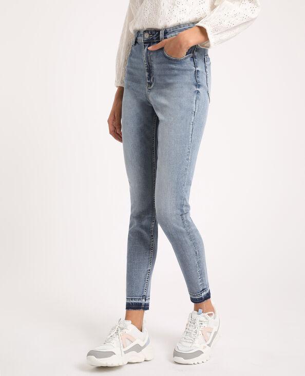 Verwassen skinny jeans met hoge taille verwassen blauw
