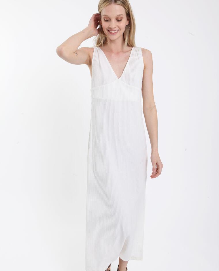 Lange jurk wit