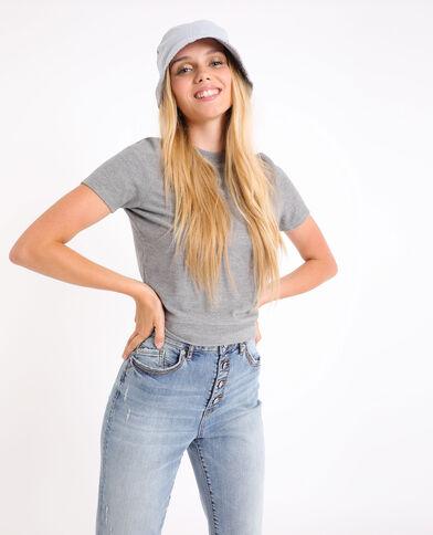 Zacht T-shirt gemêleerd grijs
