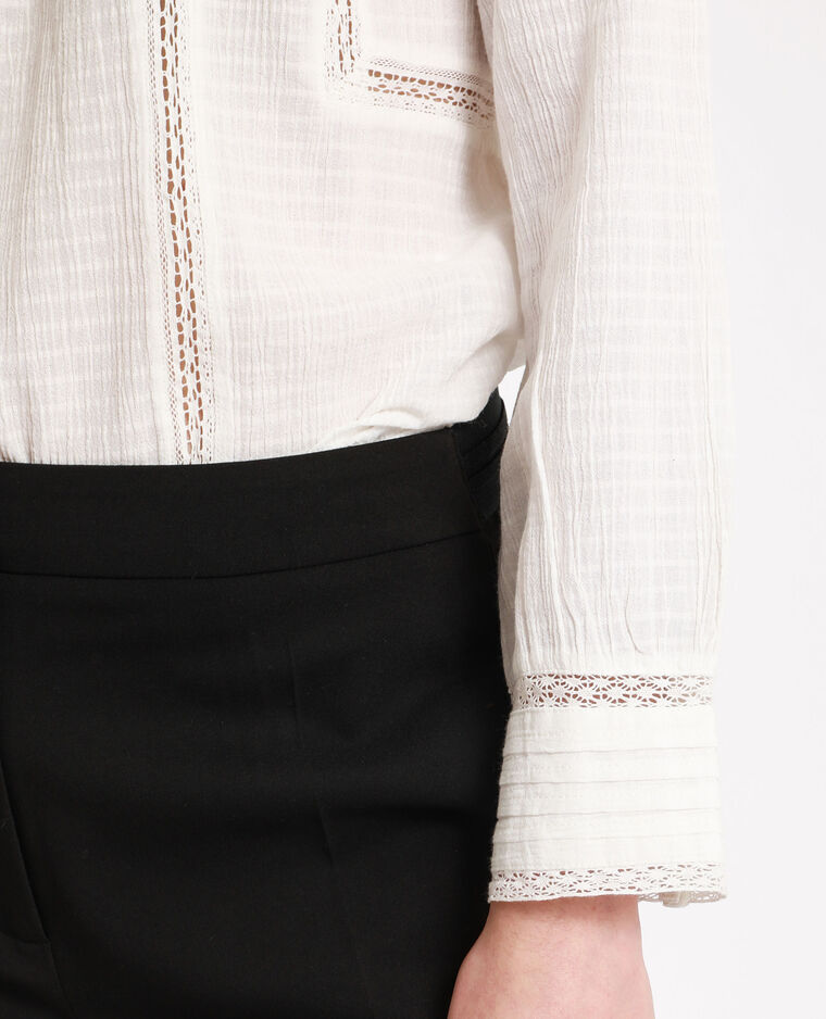 Victoriaanse blouse wit