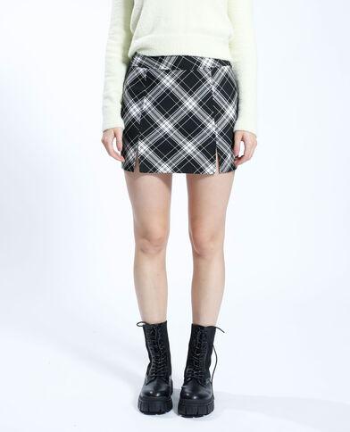 Korte geruite rok zwart - Pimkie
