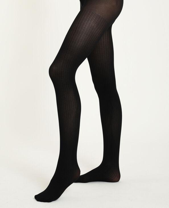 Collants rayés noir