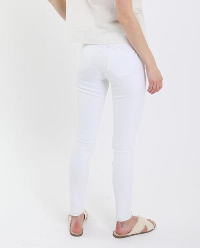 Jean push up mid waist blanc