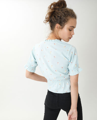 Retro top blauw - Pimkie
