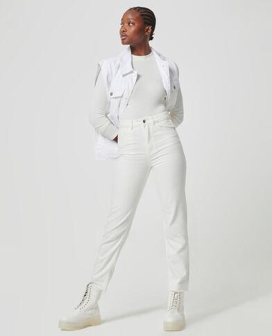 Jeans met hoge taille wit - Pimkie