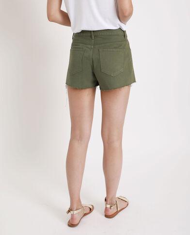 Short en jean vert
