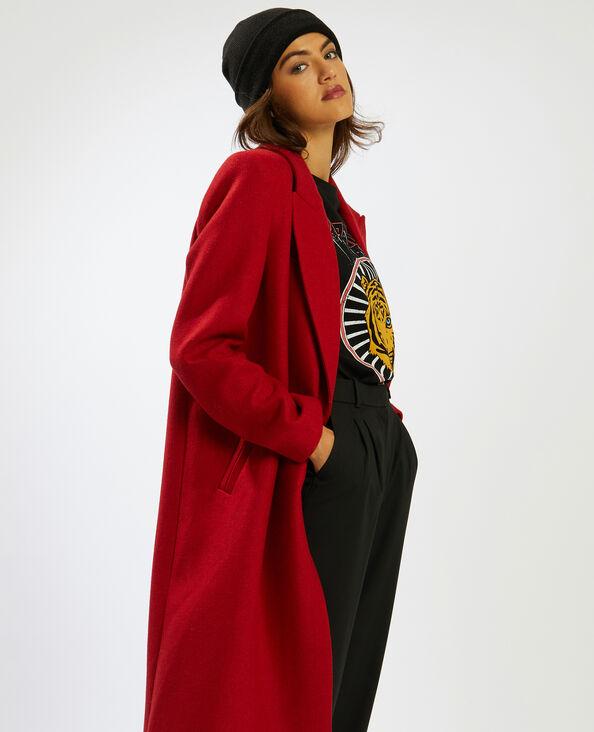 Lange mantel roestkleur - Pimkie