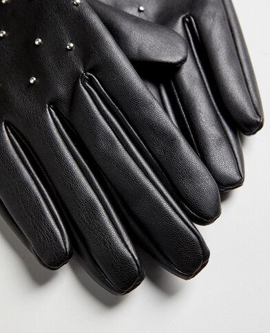 Handschoenen met studs zwart