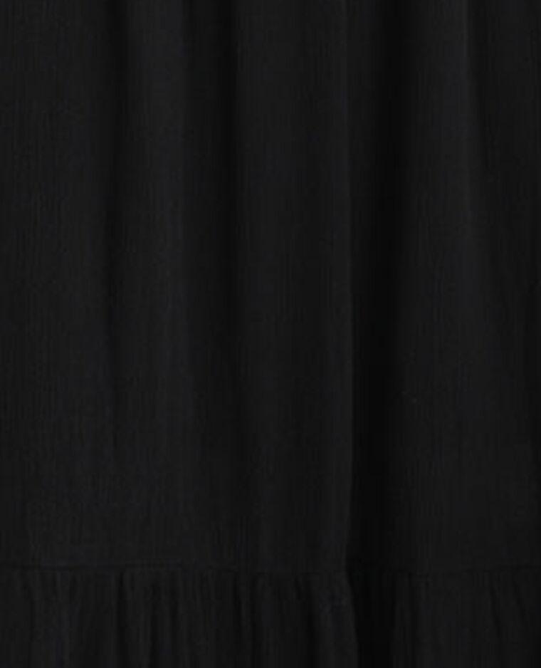Robe à volants noir - Pimkie