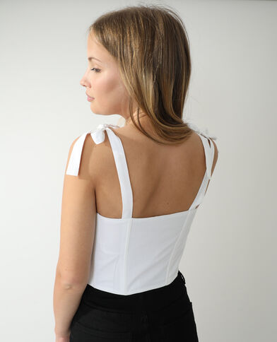 Top effet corset blanc - Pimkie