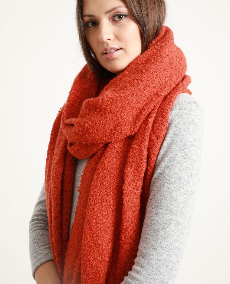 Sjaal van lusjesstof rood