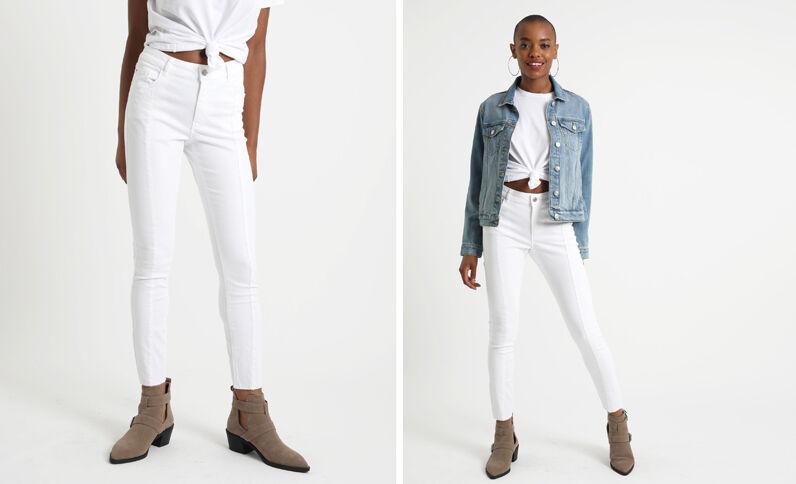 Pantalon skinny blanc