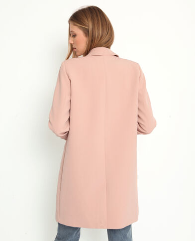 Manteau fluide rose
