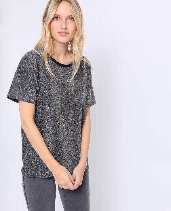 T-shirt met glitters goudkleurig