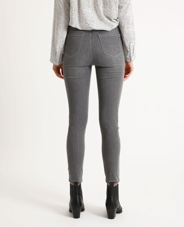 Skinny met hoge taille grijs