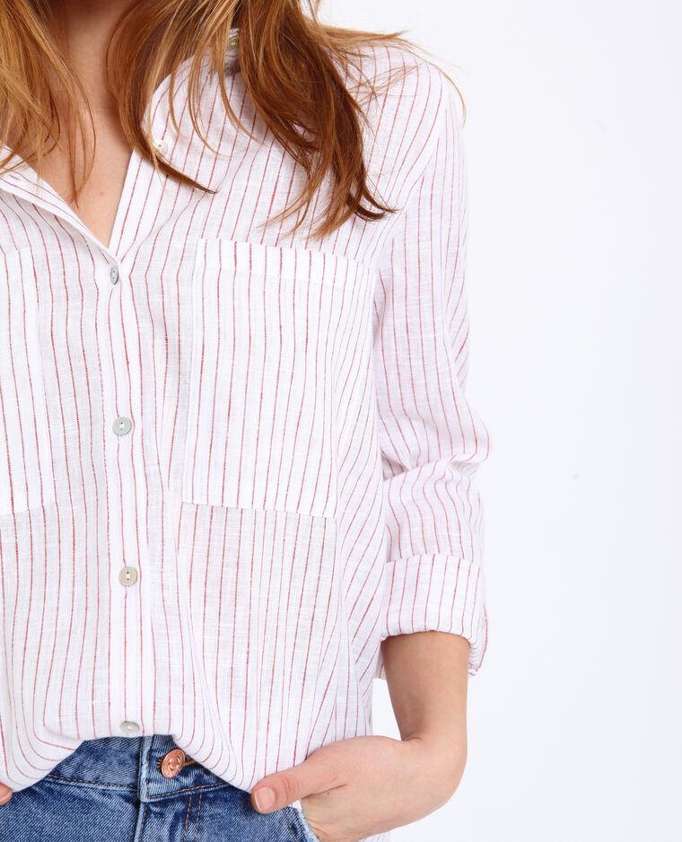 Hemd met strepen wit + rot