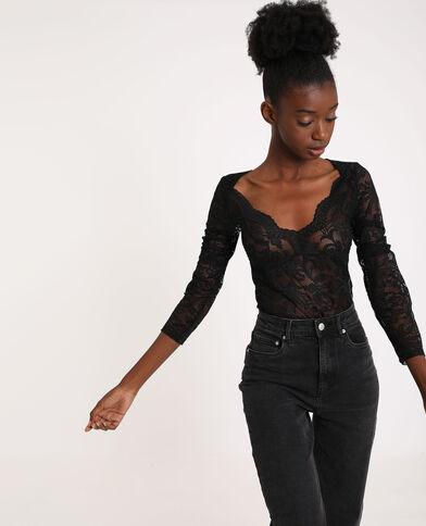 Kanten body zwart