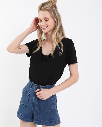T-shirt à nœud noir