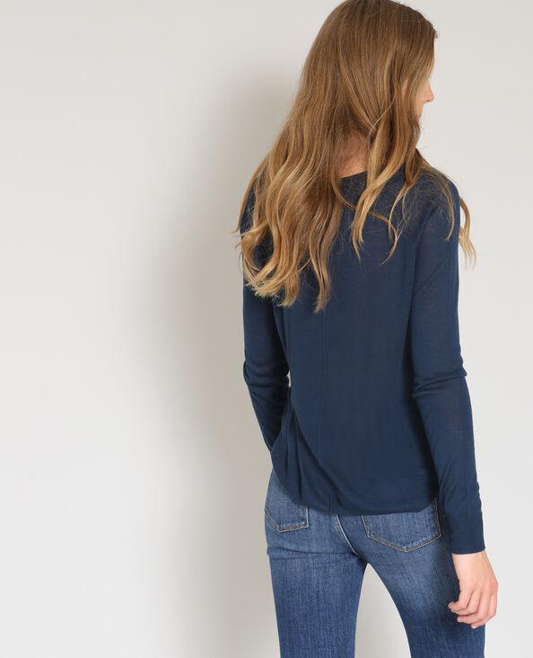 Dunne trui marineblauw