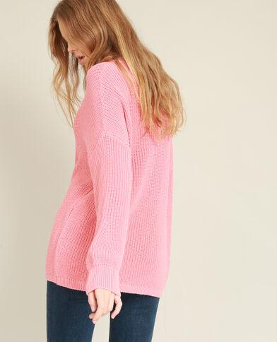 Oversized trui roze