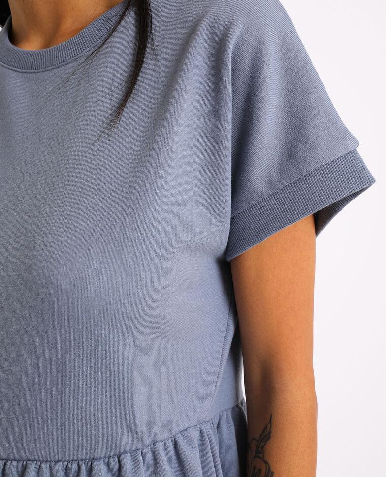 Robe sweat à manches courtes gris