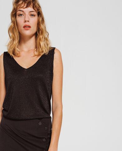 Glanzend shirt zwart