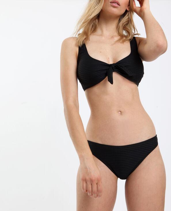 Bikinislip met textuur zwart