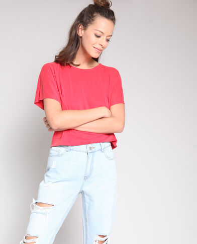 Crop top à dos ouvert rouge