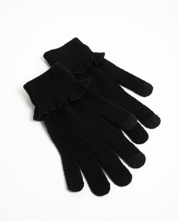 Gants à volants noir