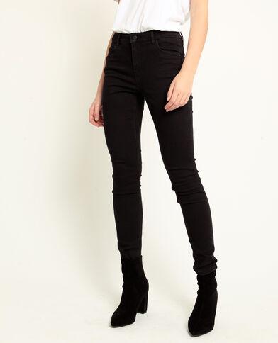 Push-up jeans met middelhoge taille zwart