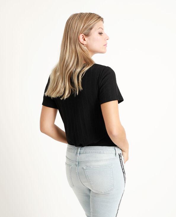 T-shirt ajouré noir