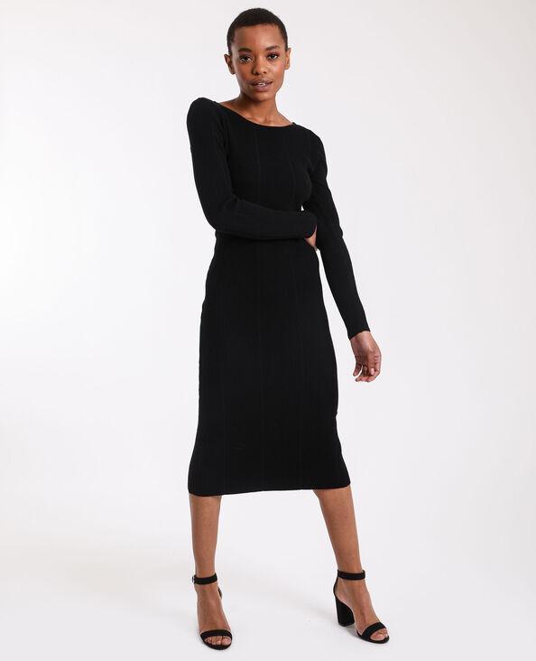 Robe longue en maille noir
