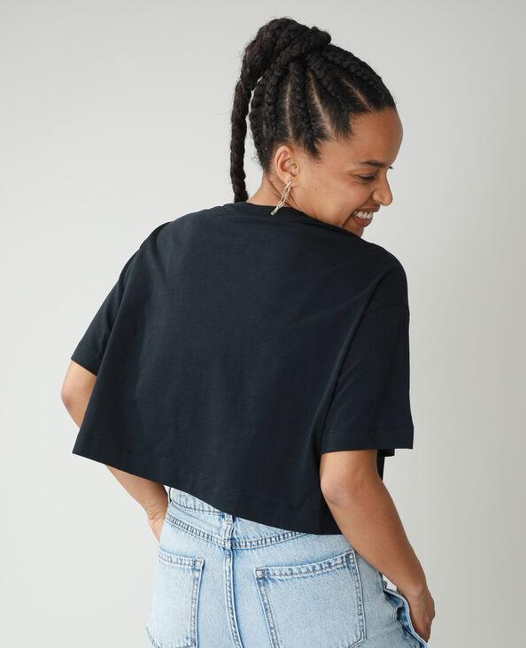 T-shirt cropped 101 Dalmatiens noir - Pimkie