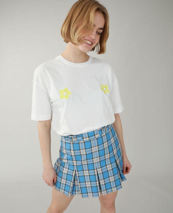 Ruim geborduurd T-shirt gebroken wit - Pimkie
