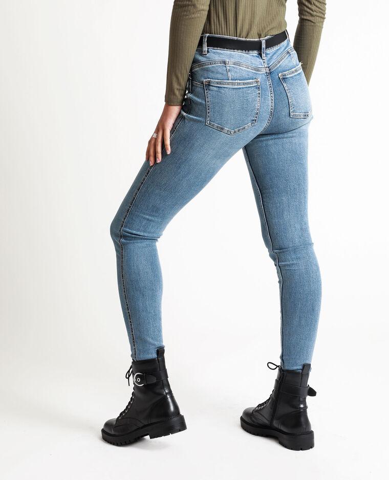 Jean push up mid waist bleu denim