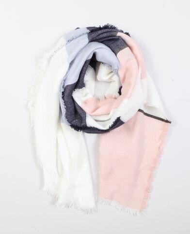 Meerkleurige sjaal blauw