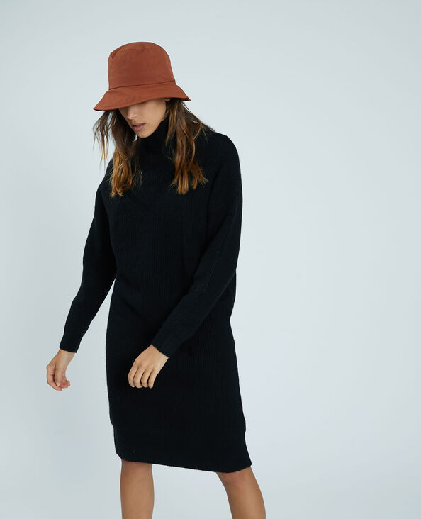 Robe-pull à col roulé noir - Pimkie