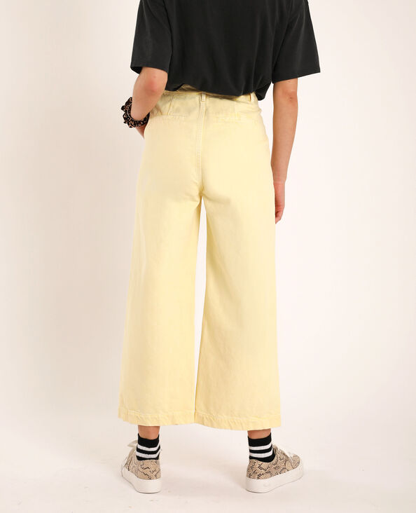 Wide leg jeans giallo