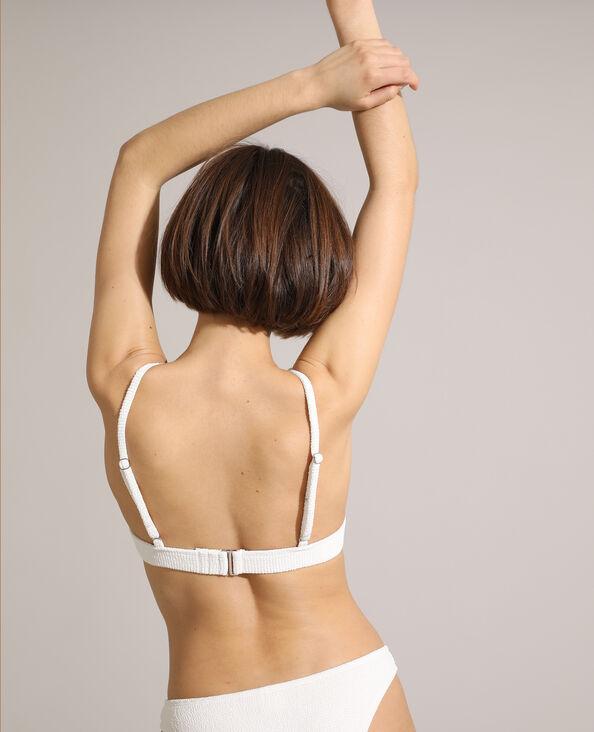 Haut de maillot brassière texturé blanc - Pimkie