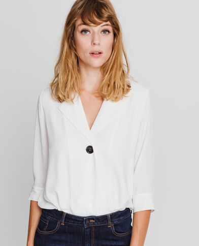 Body blouse blanc cassé