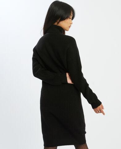 Trui-jurk met rolkraag zwart - Pimkie