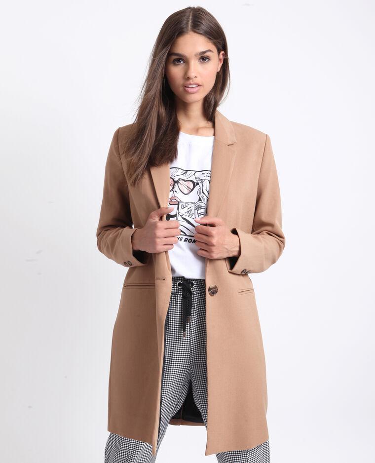 Manteau fluide marron