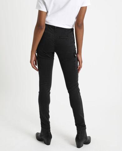 Slim jeans met zakken zwart