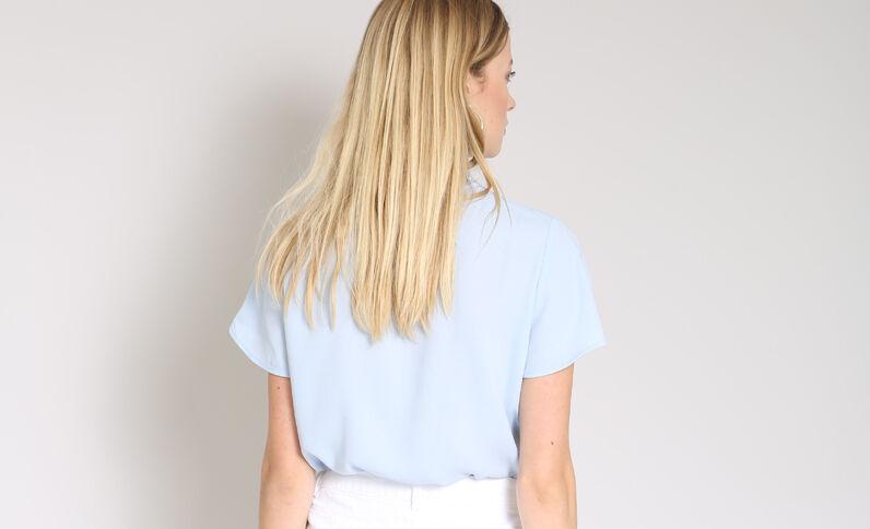 Blouse à manches courtes bleu