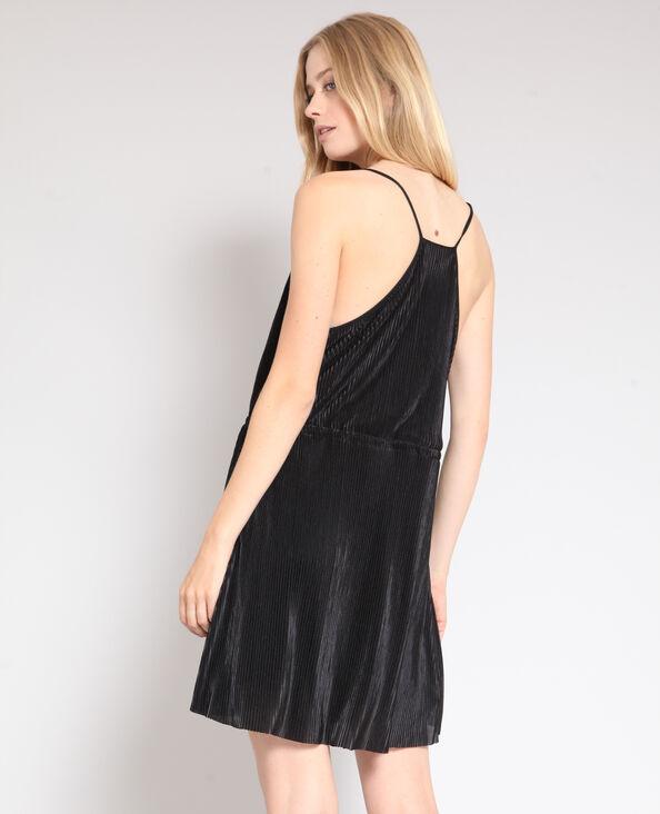 Robe plissée noir