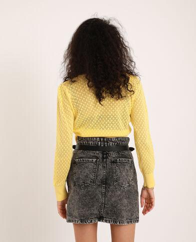 Gilet court jaune pâle - Pimkie